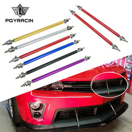 Vente en gros PQY-Universel Réglable 20 cm pare-chocs Avant Lip Splitter tige Strut Tie Bar Soutien PQY-QT59