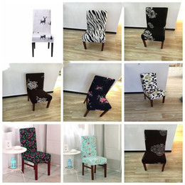 Xmas Chair Covers Spandex Removable Chair Cover Stretch Dining Seat Covers Elastic Slipcover Christmas home party decoration LXL708Q on Sale