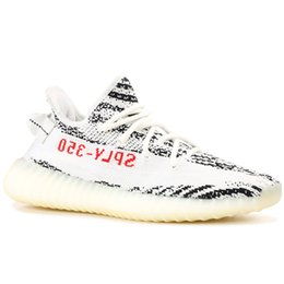 Hike online shopping - Sply V2 Mens Running Shoes Zebra Cream White Static Kanye West Blue Tint Butter Women Fashion Sport Athletics Sneakers Size