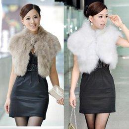 White Faux Fur Shorts Australia - 2018 New Female Short Design Faux Fur Vest Outerwear Fur Cape