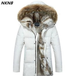 Wholesale Men s and Women s Leisure Down Jacket Winter Thick Hood Detached Warm Waterproof Big Raccoon Fur Collar For degrees