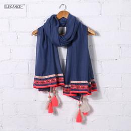 $enCountryForm.capitalKeyWord Australia - Elegance Ethnic Style Women Shawl Summer Holiday Long Scarf Sun Protection Cotton Shawls Pashmina Wholesale