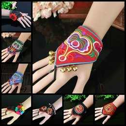 Wristband Flowers Australia - Fashion Ring Bracelet Stage Performance Dance Bracelet Wristband Colorful Handmade Wide Wrist Flower Bracelets for Woman