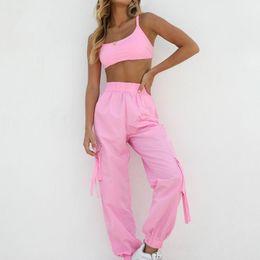 $enCountryForm.capitalKeyWord Australia - Sexy strappy trousers two-piece suitPiece Set Women Crop Top and Long PantsShort Sleeve Tracksuit Women Conjunto Feminino 2019