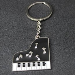 Wholesale Piano Keyboards Australia - Music Piano Keychain - Alloy Keyring Musical keyboards Style Key Chain Holder Graduate Birthday Gift Wedding Favor Wholesale Keychains