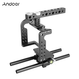 film camera dslr Australia - Andoer Aluminum Alloy Stabilizer Video Camera Cage Stabilizer for DSLR to Mount Mic LED Light Film Making Accessories