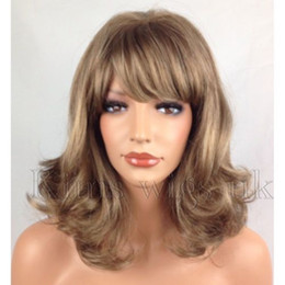 Discount quality blonde wigs - HESW184 newest medium blonde mixed health hair curly wigs for modern women wig>>>>>Free shipping New High