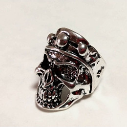 $enCountryForm.capitalKeyWord Australia - Free Shipping Mixed 100pcs Metal SNK Reaper PUNK gothic Gothic Lolita Skull Style ring Men Band Jewelry Bikers (Arts and Crafts)