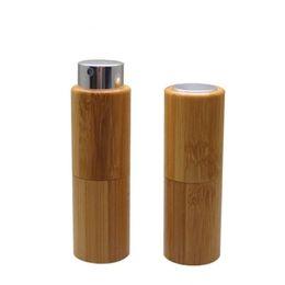 Fast Shipping Glasses Australia - 10ML Empty Bamboo Perfume Bottle, DIY Bamboo Glass Scent Spray Bottle,Portable Perfume Tube fast shipping 2019012206
