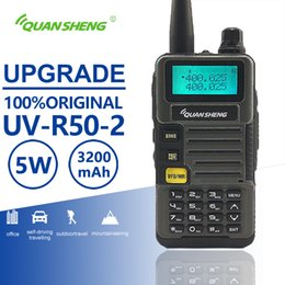 uhf mobile NZ - Quansheng UV-R50-2 Upgrade Mobile Walkie Talkie Vhf Uhf Dual Band Radio Comunicador Hf Transceiver Scanner Baofeng Uv-5r Similar
