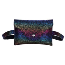 Wholesale Pillow Packs Australia - Women Fanny Pack Fashion Sequins Leather Messenger Shoulder Chest Bag waist bags women travel sac banane femme bolsa cintura