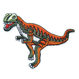 $enCountryForm.capitalKeyWord UK - Allosaurus Carnivorous Dinosaur Embroidery Patches For Stripes Fabric Sew Iron On Applique Repair Badge Patch For Clothes Jacket Bag Jeans