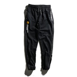 Men trousers size 36 black online shopping - New Aape Designer Pants Mens Casual Pants High Quality Beam Foot Trousers Mens Skateboard Beam Style Pants Size M XL