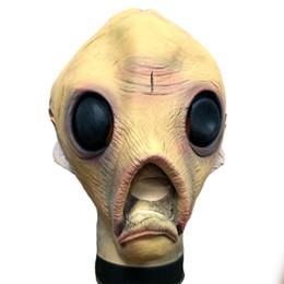 EastEr fancy drEss online shopping - 1Pcs Alien Latex Mask Breathable Full Face Head Mask Halloween Masquerade Scary Mask Fancy Dress Party Cosplay Costume