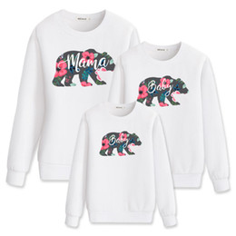 2c9ec2d81ac7 Matching Outfits Mama Baby Bear Printed Clothes T Shirt Mommy And Me Autumn  Sweatshirt Women Clothes 2018 Sister Clothing Fall J190514