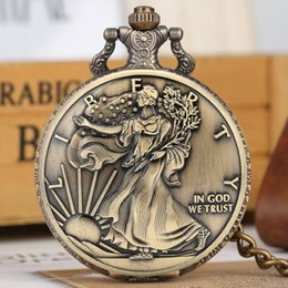 $enCountryForm.capitalKeyWord NZ - Statue of Liberty Commemorative Coin 1 oz Fine Silver One Dollar Coins Collectibles United States of America Quartz Pocket Watch