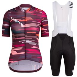 Wholesale Rapha Pro Bike Jersey Bib Shorts Sets Ropa Ciclismo Cycling Top Bottom women short sleeve Riding mtb Bicycle Clothing Suits