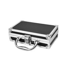 Опт Алюминиевый сплав ящики для инструментов Прочный Губка Внутри Портативный Прочный органайзер Hard Carry Practical Storage Box Travel Case багажа
