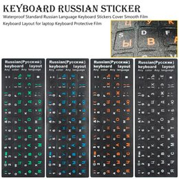 glossy laptops NZ - Waterproof Standard Russian Language Keyboard Stickers Cover glossy Film Keyboard Layout for laptop Protective Film
