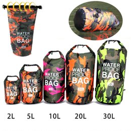 $enCountryForm.capitalKeyWord Australia - Outdoor Camouflage Waterproof Dry Bag PVC Bucket Pouch for kayak Drift Swimming Floating Boating Travel Kit Beach Storage Water Bags 2L-30L