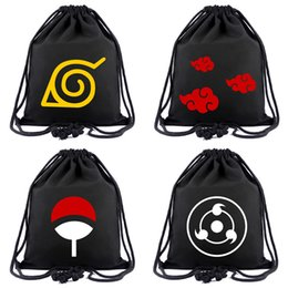 cartoon ghouls NZ - Anime Bag NARUTO Drawstring Bag Tokyo Ghoul Backpack One Piece Attack on Titan cARTOON Travel Bags Mochila Shoulders