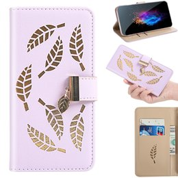 leaving cards Australia - Flip Cover Stand Wallet PU Leather Case For Samsung Galaxy A10E A20E A10S A20S A30S A50S A50 Card Slots Hollow Out Gold Leaves
