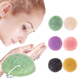 Wholesale Hot Natural Konjac Konnyaku Facial Puff Face Cleanse Washing Sponge Exfoliator Cleansing Sponge Puff Facial Cleanser