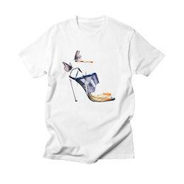 $enCountryForm.capitalKeyWord NZ - Vogue Paris Hispter Style T-Shirt Cotton 100% Tshirt Bts High Heels Harajuku T Shirt Women Top White O-neck Tee Shirt Femme 2019