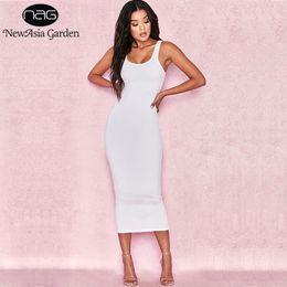 $enCountryForm.capitalKeyWord Australia - Newasia Garden 2 Layers Cotton Summer Dress Women Long Dress Sexy Tight Bodycon Dress Midi Club Ladies Dresses White Vestidos S19715