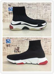 Speed S online shopping - New HOT Triple S Paris Speed Runner Black Sock ShoeS Original Luxury Trainer Runner Sneakers Race Mens Women Sports Shoes