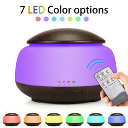 Rattan lighting bedRoom online shopping - Air Ultrasonic Humidifier Aroma Essential Oil Diffuser wood grain Humidifier With LED Night Lights Home Bedroom sprayer GGA1855