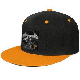 Orange Blue Vintage Hat Australia - Vintage Kevin Gates Islah Logo Design Hip-Hop Caps Snapback Flat Bill Brim Baseball Hat Rock & Roll Adjustable