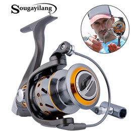 Gear Spinning Australia - sea Sougayilang Feeder Spinning China Left Right Gear Coil 12+1 Ball Bearing Metal Sea Fishing Reel Peche