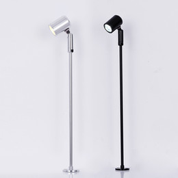 bar tables black NZ - Small Spotlight Commercial Display Case Standing Pole Spot Light Cafe Bar Table Downlight Cabinet Down Light Floor Lamp RW74