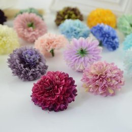 $enCountryForm.capitalKeyWord Australia - 1pcs Cheap Silk Carnation Heads Artificial Flower For Home Daisy Bridal Bouquet Wrist Accessories Wedding Car Decoration