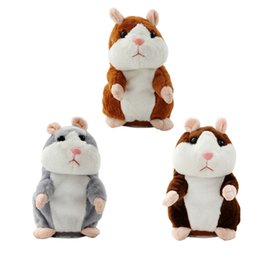 $enCountryForm.capitalKeyWord UK - Talking Sounding Recording Plush Hamster Toy Repeats What You Say Stuff Plush Hamster Animal Doll Toys for Baby Gift