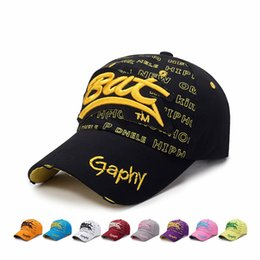 bat balls UK - Hole Baseball Cap Snapback Cap Men's Three-dimensional Embroidery BAT Patching Sunhat Women Outdoor Sun Hat