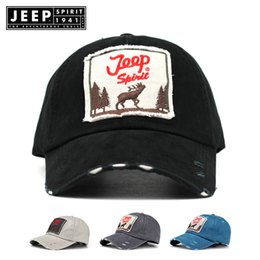 93f6ae1b188 Ms JEEP counters authentic outdoor leisure men s cotton black baseball cap  shade adjustable adult letters embroidered hat cap summer bask in