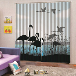 $enCountryForm.capitalKeyWord Australia - 3D Digital Print White Crane Curtains pearls Luxury Window Living Room wedding bedroom Cortinas Drapes Customized size M13