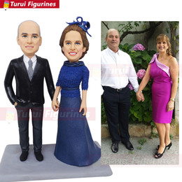 Cake Figures Australia - parent figurine custom bobblehead cheap wholesale wedding cake topper kiss lover figure customization couple dolls by Turui Figurines