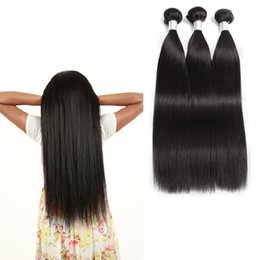 cheap black hair weave extension Australia - Top 8A Malaysian Straight Human Hair Weaves 3 Bundles Brazilian Virgin Hair Extensions Grade 8A Natural Black Cheap Brazilian Hair