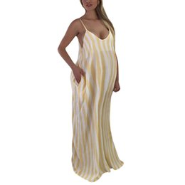 $enCountryForm.capitalKeyWord Canada - Women Maternity Dresses Long Summer Striped Sleeveless Elegant Casual Party Nursing Dress Pregnant Clothes Vetement Femme 19may2