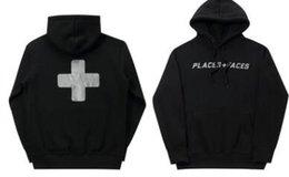 Cross Sweatshirt Hoodie Australia - Oversize P Face Black Hoodies Men Fashion Cross Printed Hooded Sweatshirts Pullovers