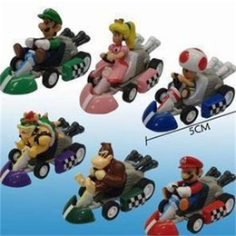 ColleCtions Cars online shopping - Super Mario Action Figures Children Toys Pull Back Car Cartoon Collection PVC Birthday Gift Suit hw F1