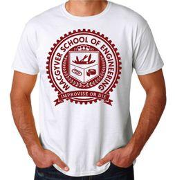 $enCountryForm.capitalKeyWord NZ - Macgyver School Gadgets Engineering Funny 80's ActionTV Show White T-Shirt new 2018 Summer Fashion Men's Short Sleeve