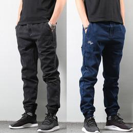 Japanese pants online shopping - Japanese Style Fashion Men s Jogger Jeans Black Blue Color Streetwear Punk Pants Hip Hop Jeans Men Slim Fit Cargo Pants Homme