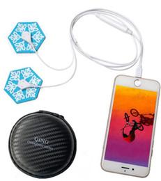 $enCountryForm.capitalKeyWord Australia - Mini QING Neck Massager sticker Body Lumbar massage Mobile phone charging Multifunctional cervical spine Electric pulse Impulse Magnetic DHL