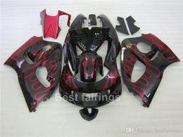98 Srad Fairing Red Australia - ZXMOTOR Free custom fairing kit for SUZUKI GSXR600 GSXR750 SRAD 1996-2000 black red flames GSXR 600 750 96 97 98 99 00 fairings BV34