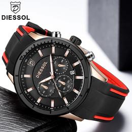 $enCountryForm.capitalKeyWord Canada - DIESSOL Fashion Mens Watches Top Brand Luxury Analog Quartz Watch Men Rubber Gold Waterproof Sport Wrist Watch Relogio Masculino