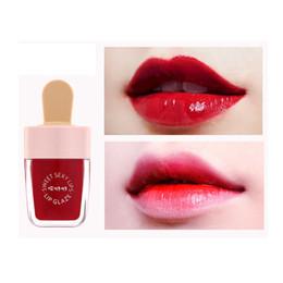 used lipstick 2019 - Beauty Makeup Lip Glaze Ice Cream Liquid Lipstick Moisturizer Long-lasting Non-stick Lip Gloss Cosmetic Women Use discou